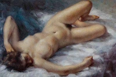 Roser Vinardell - Óleo sobre lienzo desnudo femenino