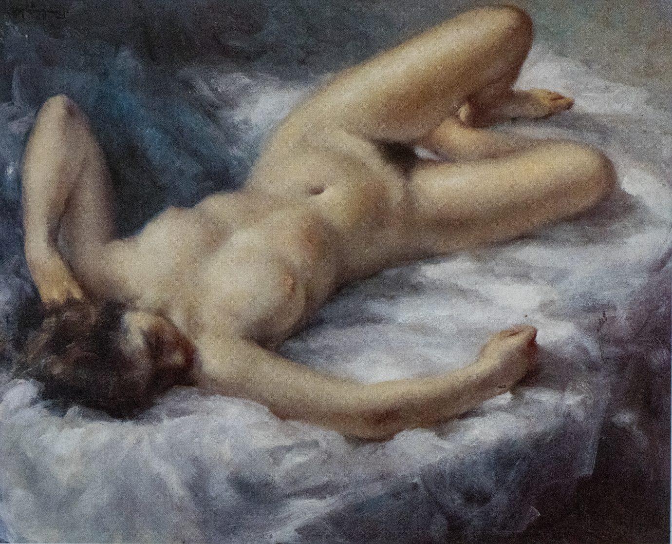 Óleo Roser Vinardell - Desnudo femenino