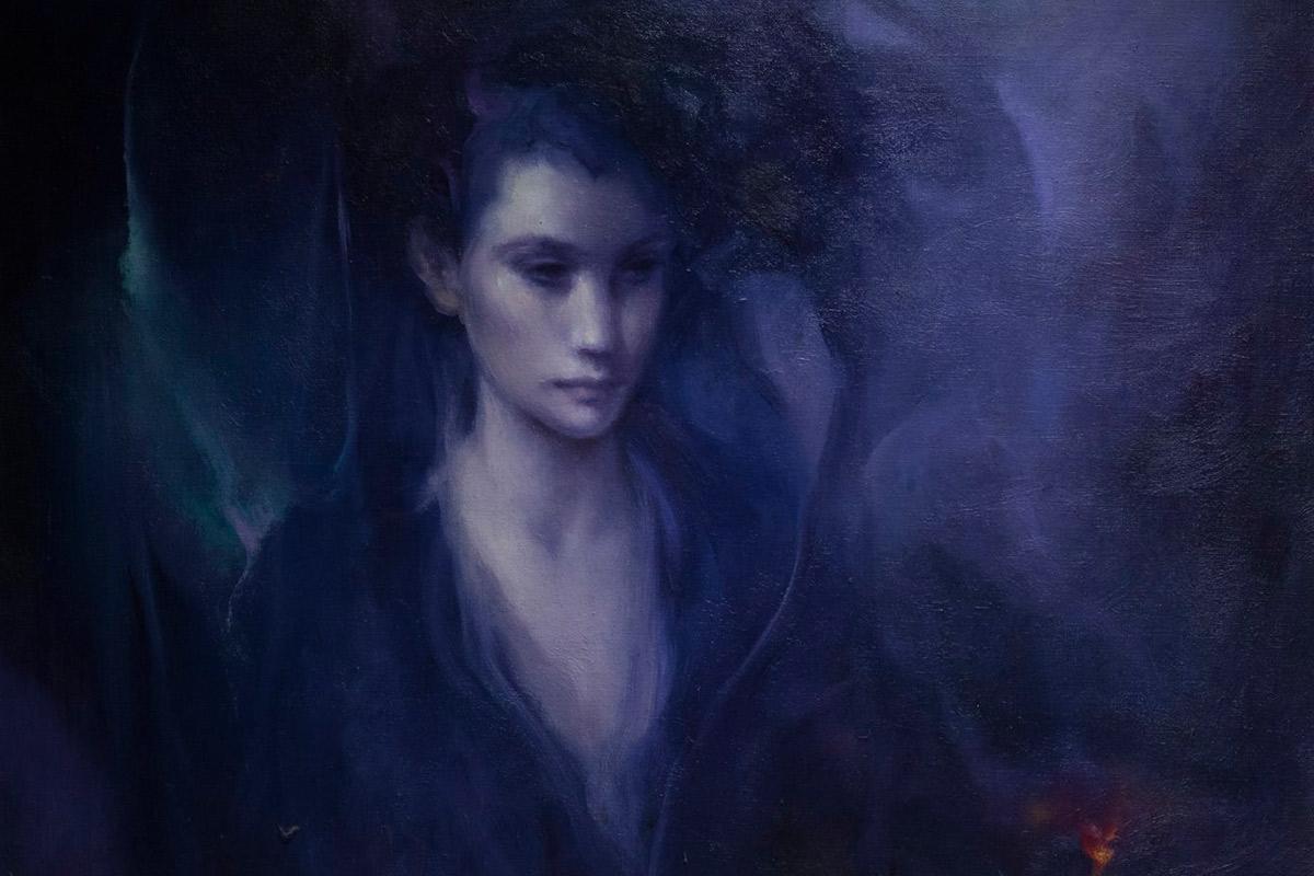 Roser Vinardell - Óleo sobre lienzo fantasia retrato