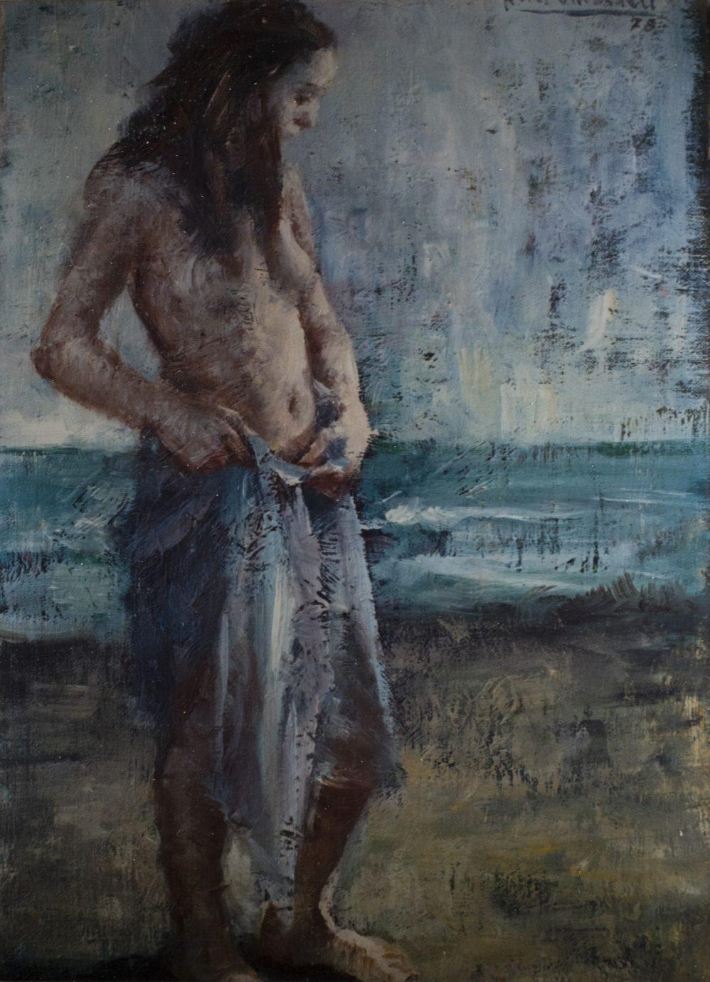 Óleo sobre lienzo Roser Vinardell desnudo