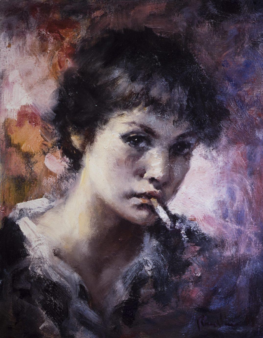 Óleo sobre lienzo Roser Vinardell retrato