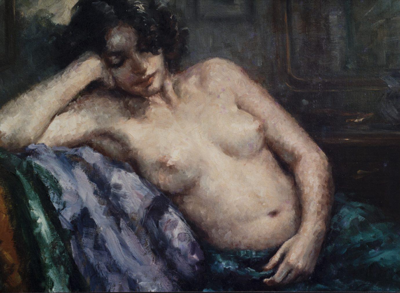 Roser Vinardell Óleo sobre lienzo desnudo