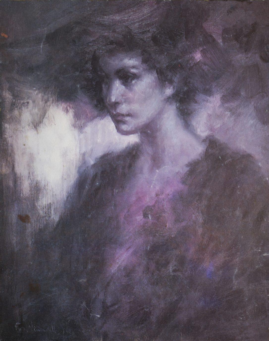 Roser Vinardell Óleo sobre lienzo retrato