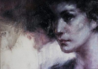 Roser Vinardell - Óleo sobre lienzo detalle