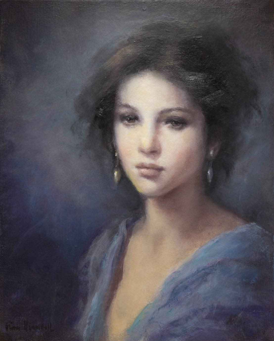 Retrato - Roser Vinardell - Óleo sobre lienzo